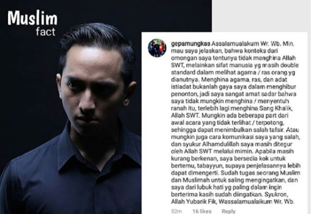 Setelah Ramai Dikecam Netizen, Ge Pamungkas Klarifikasi Begini
