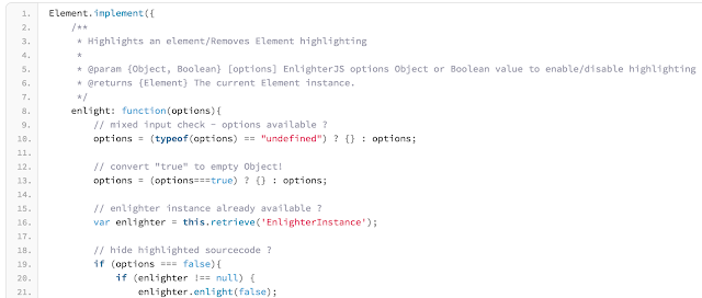 EnlighterJS MooTools syntax highlighters for web