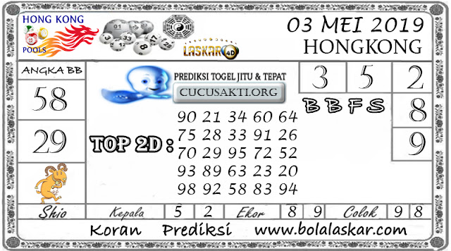 Prediksi Togel HONGKONG LASKAR4D 03 MEI 2019
