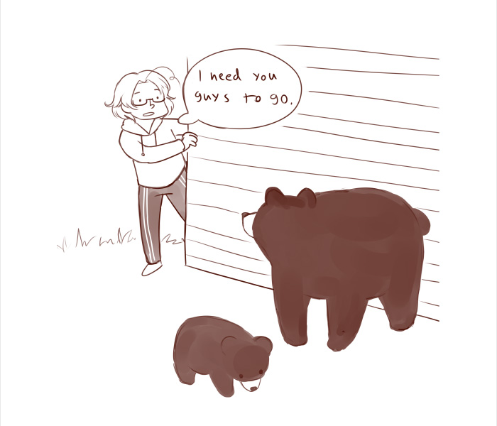 Funny Pictures Show The Difference In The Way Canadians And Finnish Get Rid Of Bears