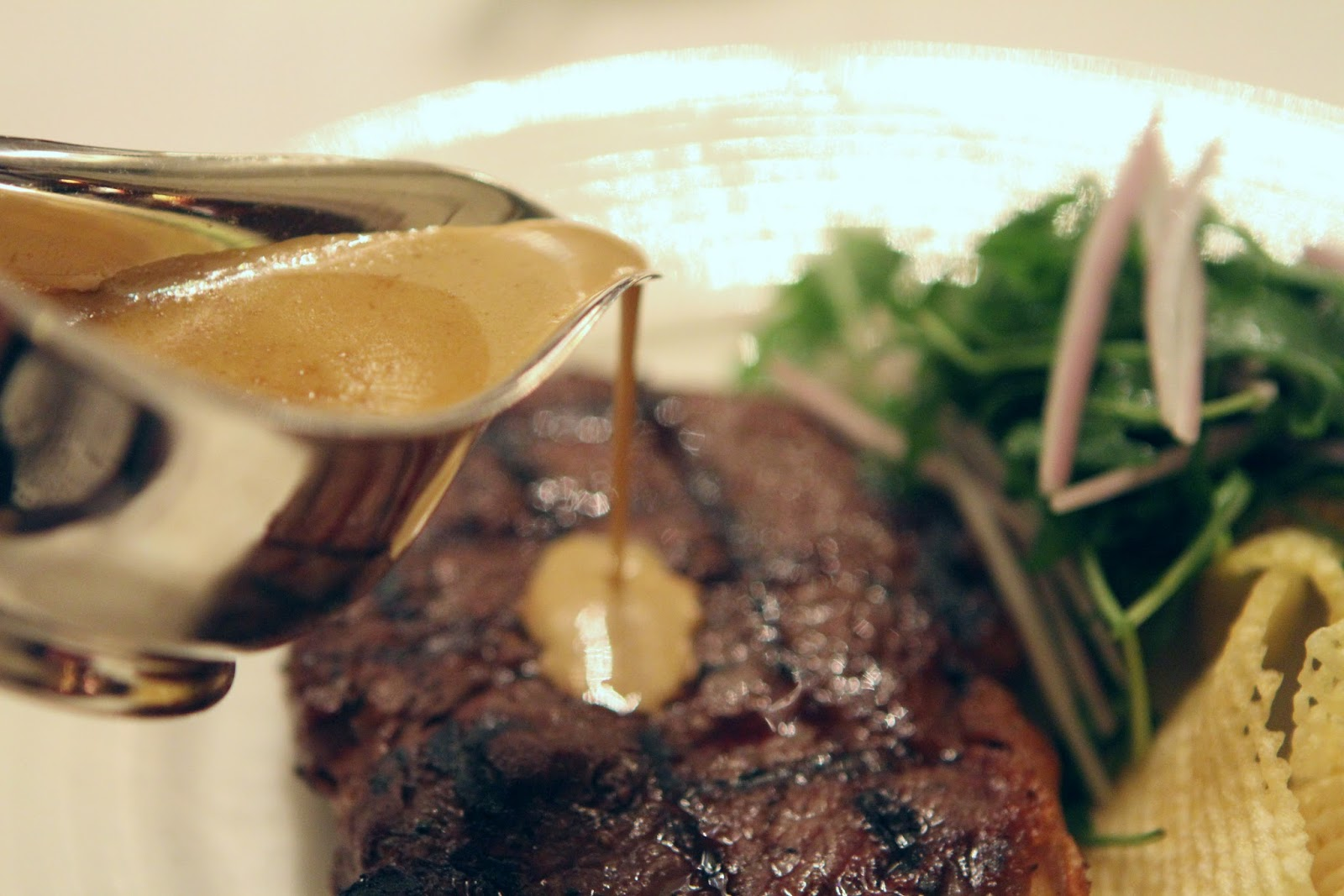 The Savoy grill steak and chips
