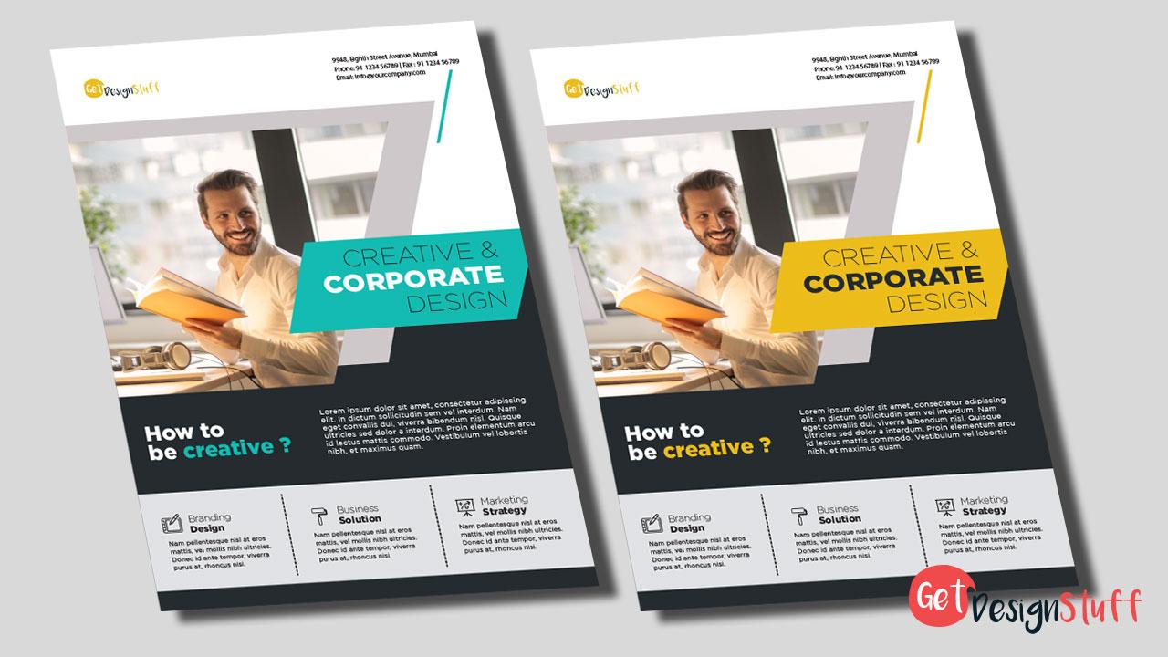 Multipurpose Corporate Flyer Illustrator CS6 Template