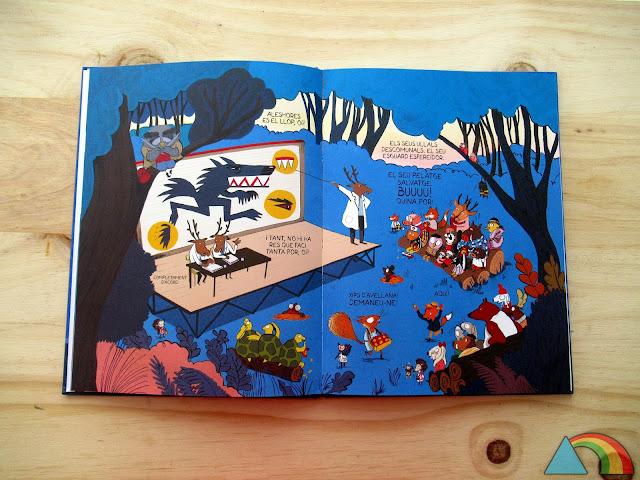 """Interior del libro """"El lobo en calzoncillos"""""""