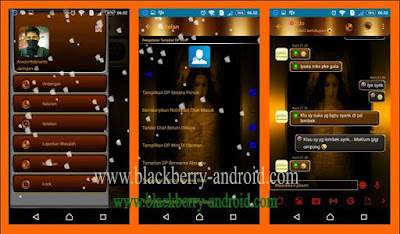 BBM Golden Angel Themes With Animasi Salju Based 2.12.0.11 Apk