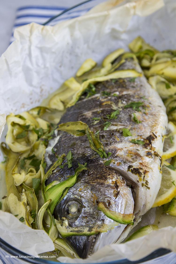 Orata con zucchine e zenzero - La cucina spontanea - ricette ...