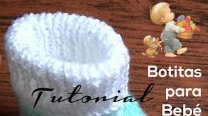 Botitas para bebés tejidas a dos agujas / Tutorial