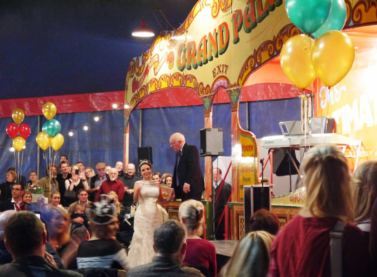 Carters Steam Fair Wedding - the bride with Paul Daniels