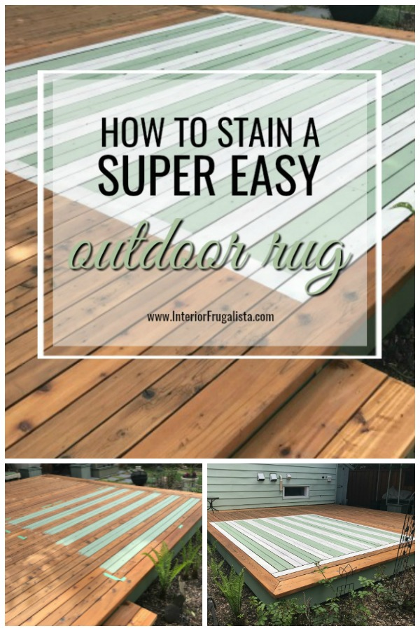 Super Easy DIY Stained Outdoor Rug