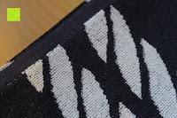 """Ende: ZOLLNER hochwertiges Strandlaken / Strandtuch / Badetuch 100x200 cm marine-weiß, in weiteren Farben erhältlich, direkt vom Hotelwäschehersteller, Serie """"Marina"""""""