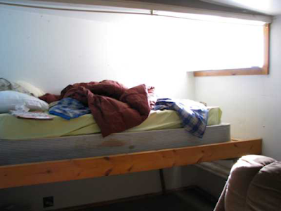 Gold Rush cabin bed before clean up