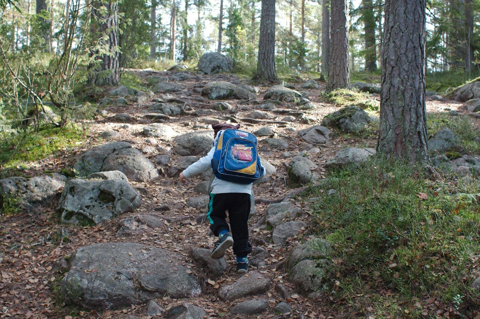Kivistä polkua Iso-Holman ja Kattilan välillä