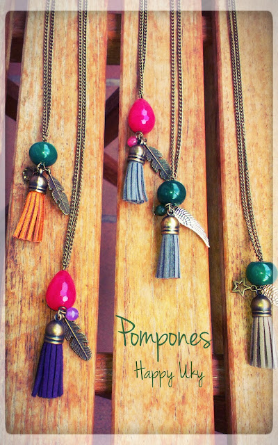 happy uky collares complementos pompones handmade barcelona
