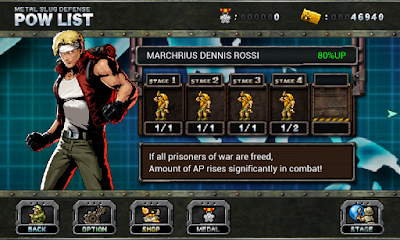 Screenshot: Metal Slug Defense for Android
