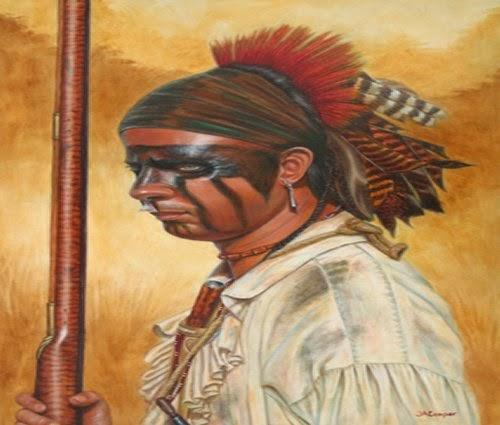 Painting FIW Lenape, Delaware Indians picture 1