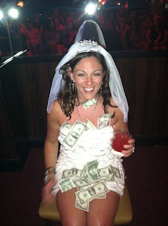 bride at bachelorette party