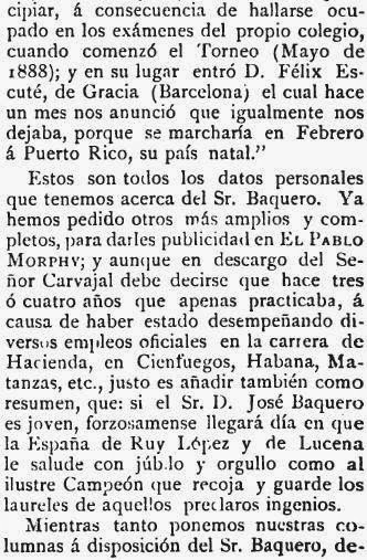 Recorte de El Pablo Morphy sobre el match de ajedrez Baquero - Martínez de Carvajal (4)