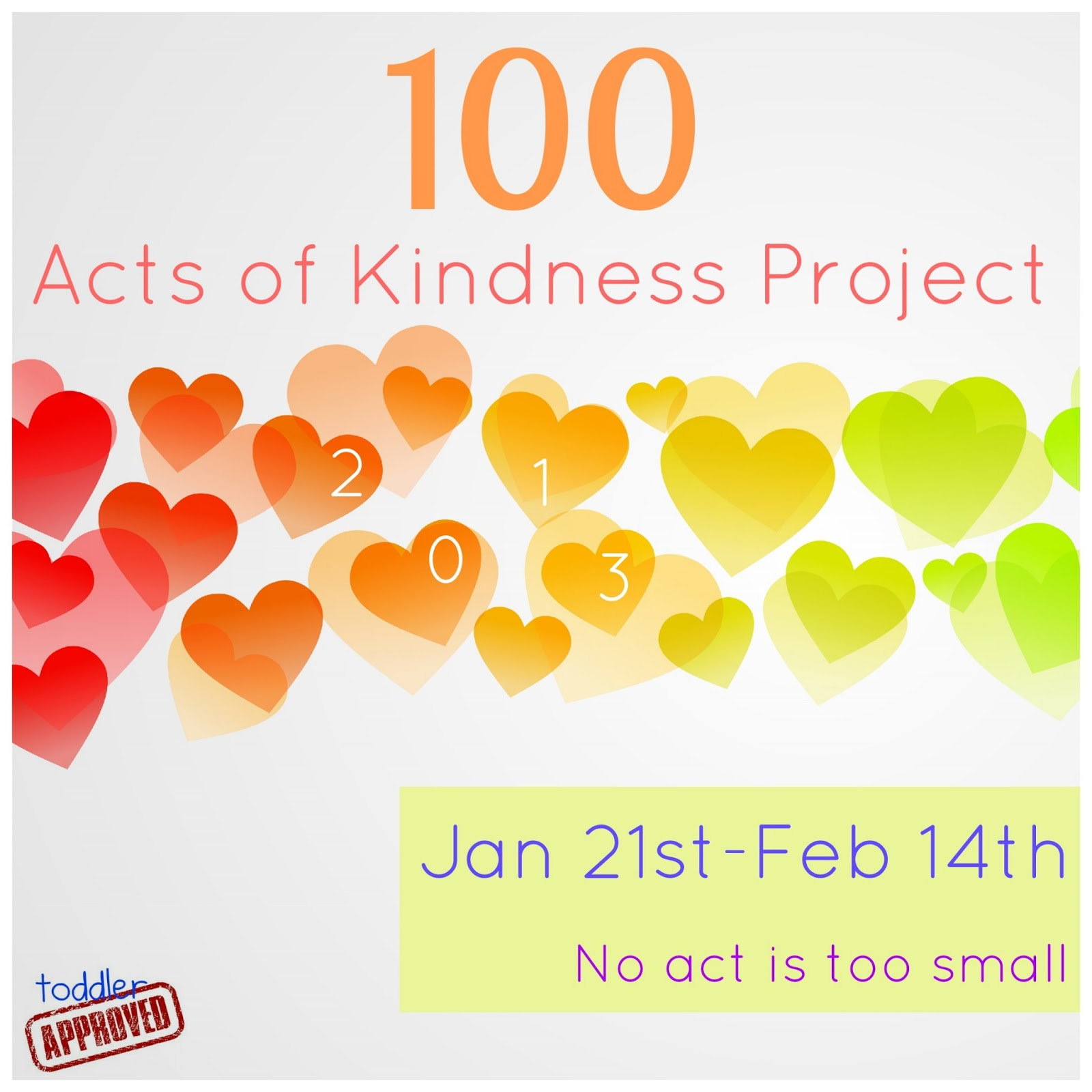 Toddler Approved 100 Acts Of Kindness Project