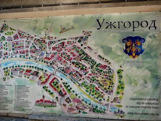 Ужгород. Пассаж. План-схема исторического центра
