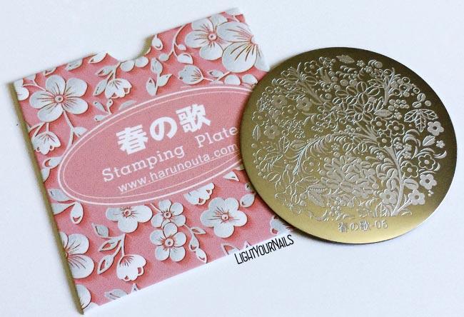 Bornpretty Harunouta 06 stamping plate