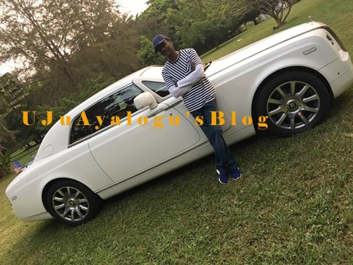 Living Large: Pastor Chris Okotie Displays His Luxurious Roll Royce on His Golf Course (Photos)