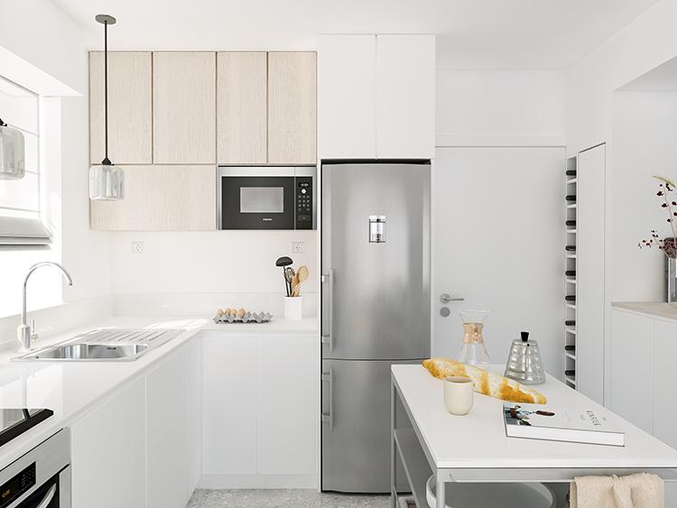 Kitchen renovation in Belgium. E-design by Eleni Psyllaki My Paradissi