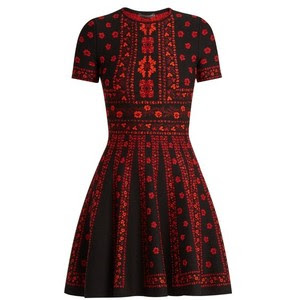 Floral intarsia-knit dress, $1,724 from Alexander McQueen