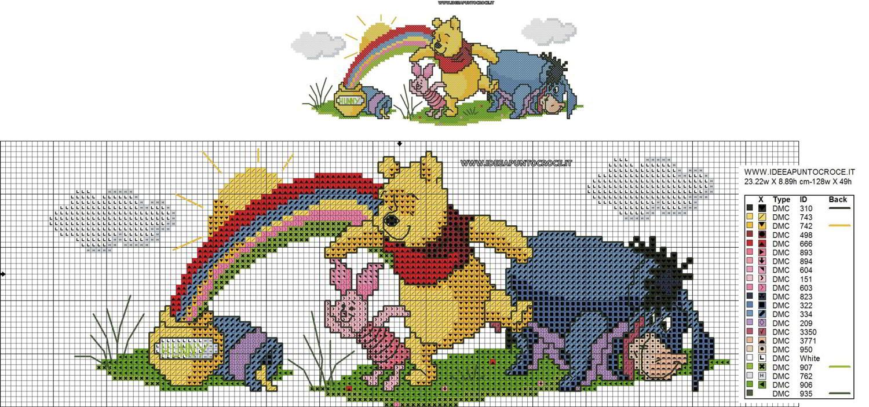 Schemi disney a punto croce schemi baby winnie the pooh for Immagini punto croce