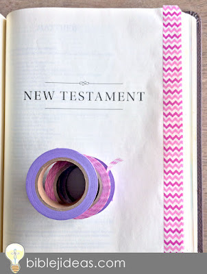 Washi tape Bible border tabs