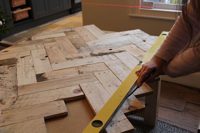 How to Make a Herringbone Tabletop