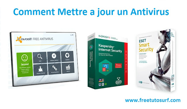 télécharger mise a jour antivirus Avast, kapersky, Eset samart security