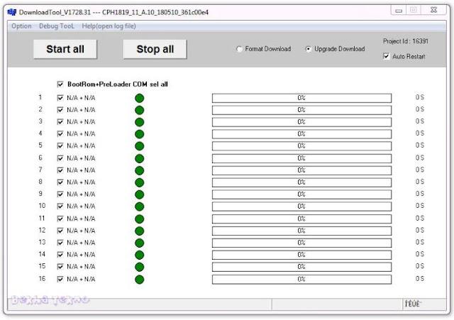 Cara flash Oppo F7 CPH1819 Terlengkap Menggunakan DownloadTool Dan Firmware Terbaru