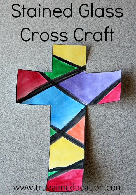 Easy Stained Glass Cross Craft