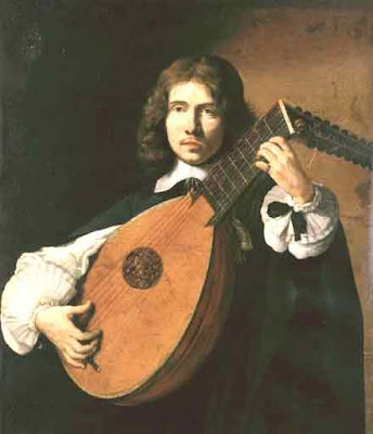 Painting of Thomas Campion playing a lute