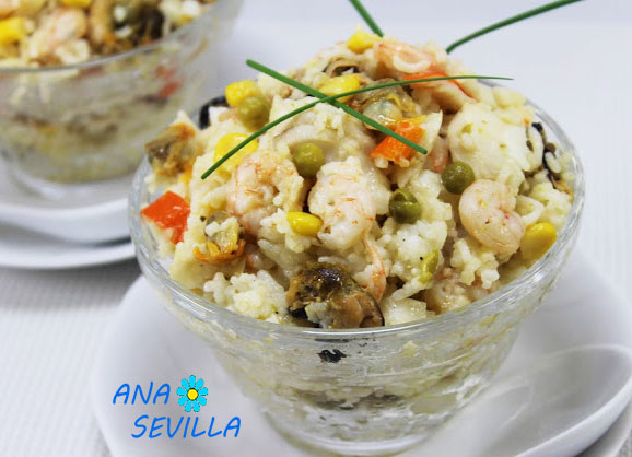 Ensalada de arroz marinera tradicional