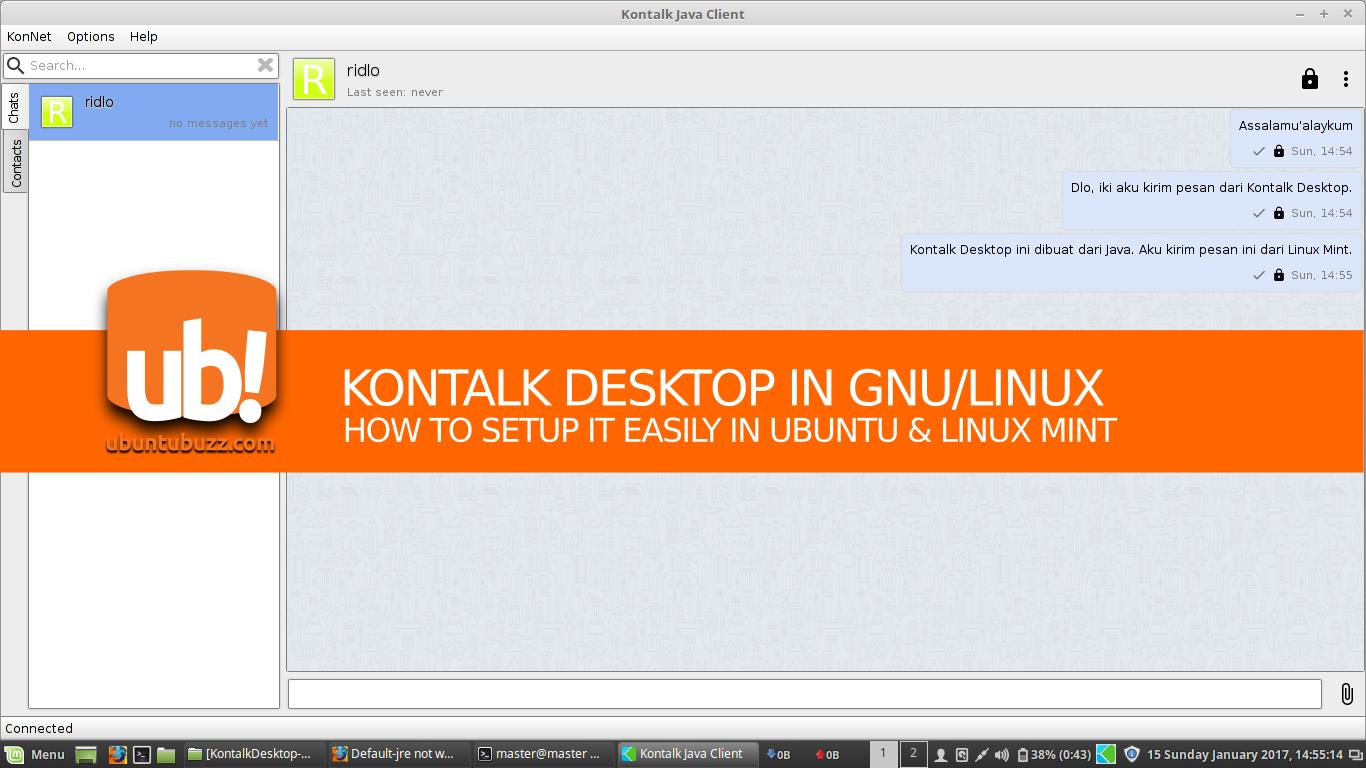 Ubuntu Buzz !: Setup Kontalk Desktop Client in Ubuntu
