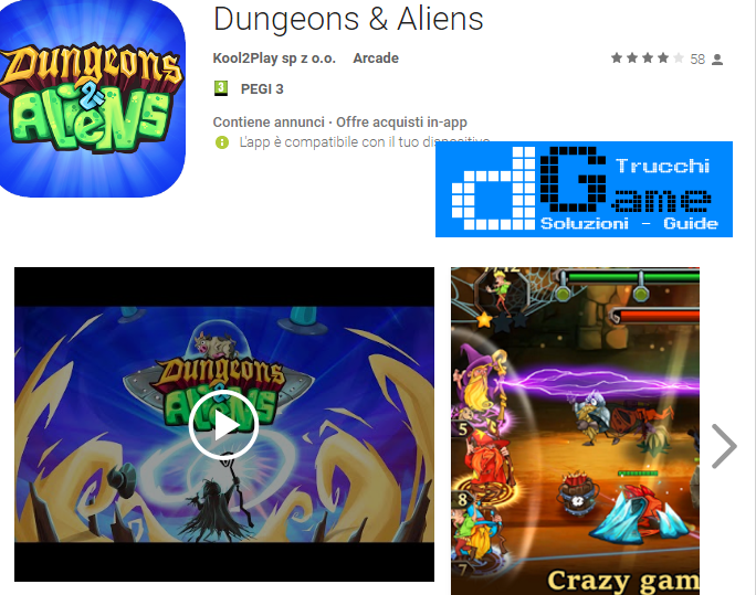 Trucchi Dungeons & Aliens Mod Apk Android v1.01