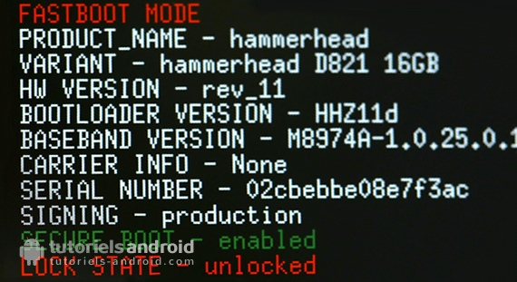 FASTBOOT mode Nexus 5