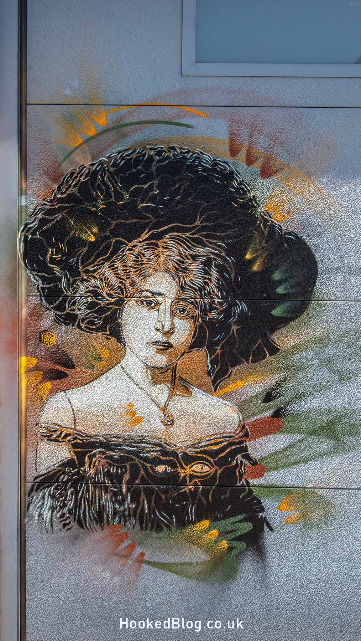 C215 Street Art For the Crystal Ship Festival in Ostend, Belgium