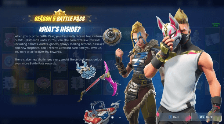 Fortnite Season 5 Battle Pass Revealed |  Temporal Rifts, Golf Carts, And New Locations