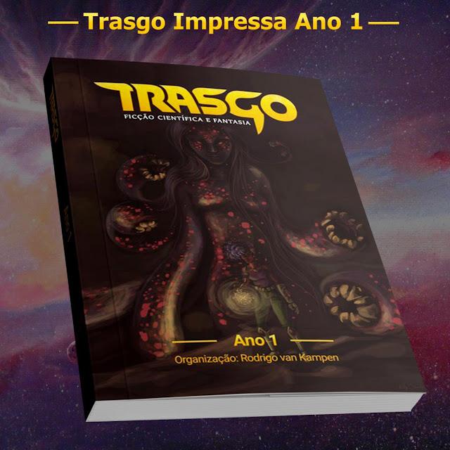 Livro impresso reunindo os contos das primeiras 4 edições da Trasgo.