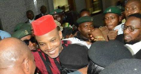 Image result for IPOB leader, Nnamdi Kanu meets bail conditions