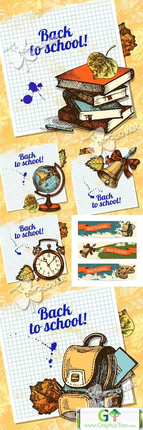 Vector Back to school design 0459