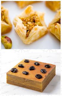 Source: Mandarin Oriental Jakarta Ramadhan e-brochure. Top: baklava. Bottom: Prune lapis legit layered cake.
