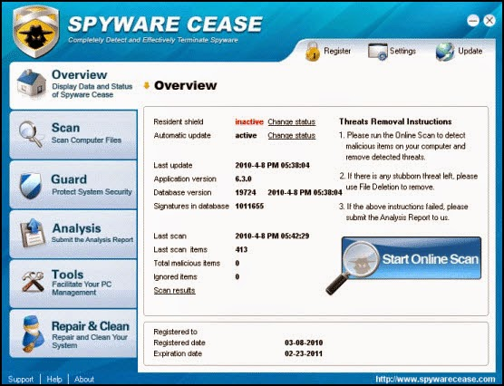 Download free spyware cease, spyware cease 7. 2. 0. 1 download.