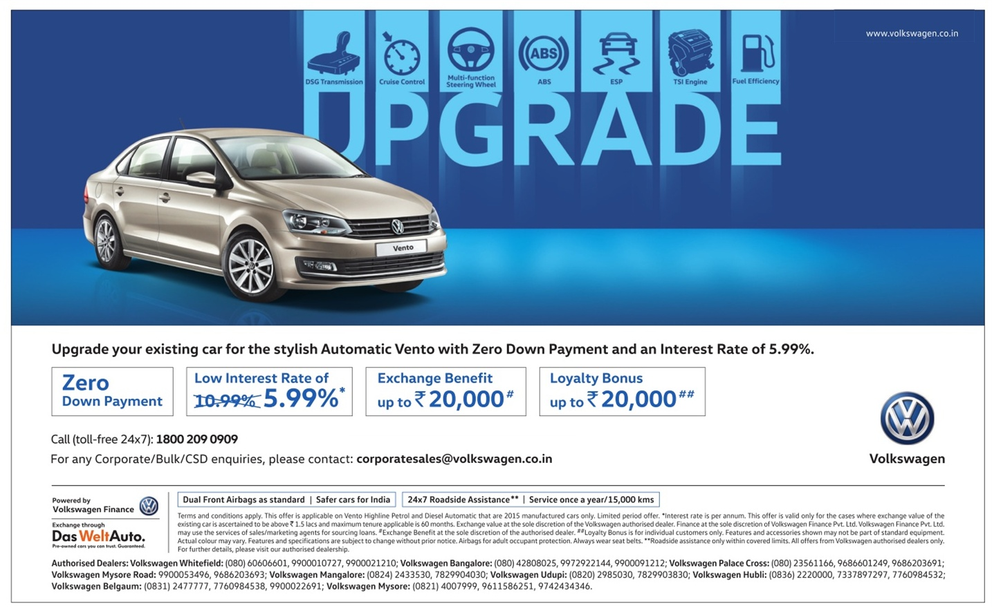 Best time to buy Volkswagen Vento | Amazing discount offers in may 2016