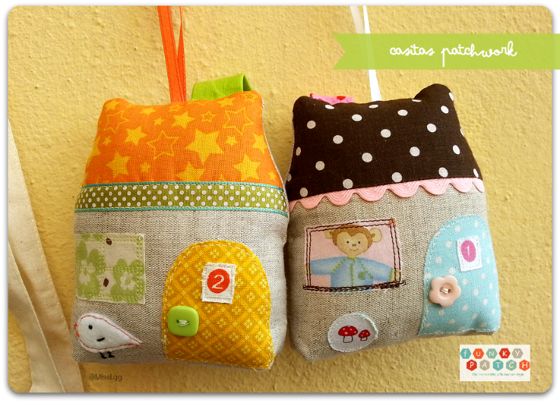 Casitas de patchwork decorativas, personalizadas y hechas a mano
