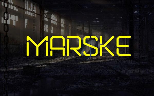Marske Stencil Font