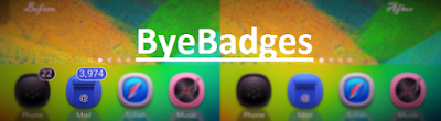 ByeBadges is a brand new jailbreak cydia tweak developed by the CydiaGeek which allows you to simply and completely hide all your apps badges just with one tap