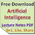Artificial Intelligence Lecture Notes PDF Download