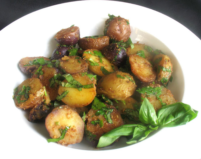 Skillet Potato Salad with fresh herbs